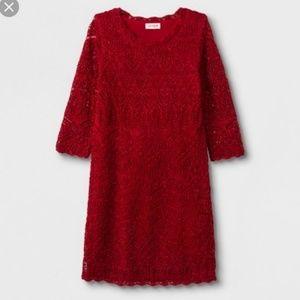 Cat & Jack crochet sweaterdress sweater dress Red